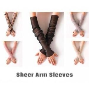Women's Arm Sleeves Sheer Shimmer Accessory